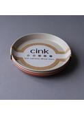 Bamboo plate 3-pack - fog/rye/brick