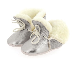 babyslofjes Choudou uni silver | Easy Peasy