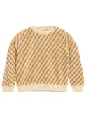 Sweatshirt striped sponge - paille