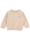 Sweatshirt - rayure caramel