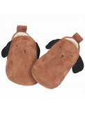 Chaussons chien - camel