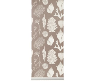 Katy scott wallpaper - shells - rose - Ferm Living