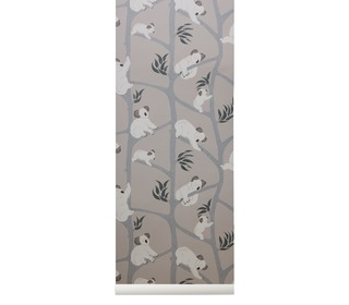 Koala wallpaper - grey - Ferm Living