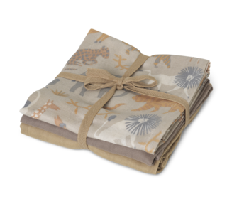 Muslin Squares - set of 3 - Safari - Ferm Living
