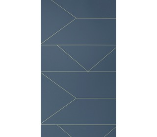 behang Lines - dark blue - Ferm Living