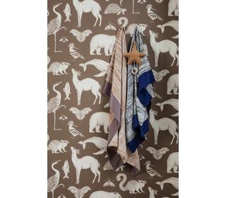 Katy scott wallpaper - animal - toffee - Ferm Living