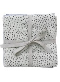 Muslin Squares - set of 3 - Mint Dot