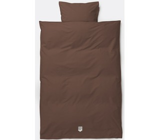 dekbedovertrek Hush bedding - Cognac - Ferm Living