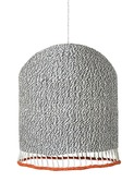 Braided Lampshade Light Grey Medium