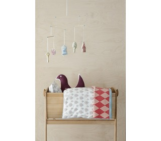 dekbedovertrek Dotty rose - Ferm Living