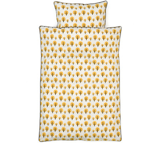 dekbedovertrek dotty yellow - Ferm Living