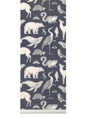Katy scott wallpaper - animal - blue