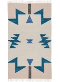 Kelim rug - Blue Triangles