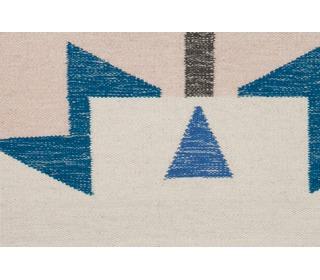 Kelim rug - small Blue Triangles - Ferm Living