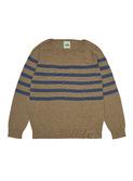 Raglan blouse - camel/indigo