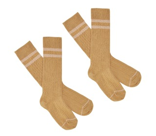 2-Pack Knee Stockings - yellow - FUB
