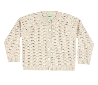 Cardigan light ecru│FUB