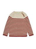 Sweater - ecru/brick