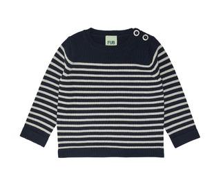 Baby Thin Sweater - navy/ecru - FUB