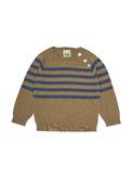 Baby raglan blouse - camel/indigo