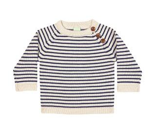 baby sweater ecru/navy - FUB