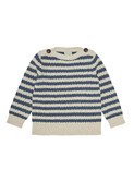 Baby boatneck blouse - ecru/indigo
