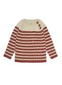 Baby sweater - ecru/brick