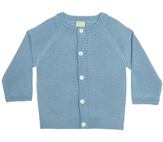baby cardigan ice blue - FUB