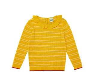 Ruffle blouse yellow/ecru - FUB