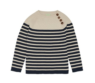 Sweater - ecru/navy - FUB