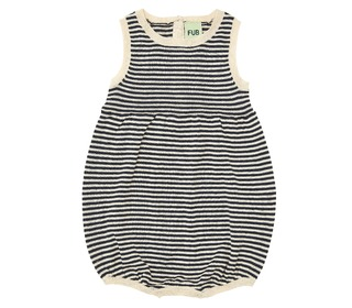 Baby Romper Suit ecru/navy - FUB