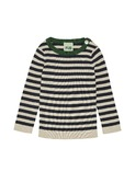 Baby Striped Rib Blouse - ecru/navy