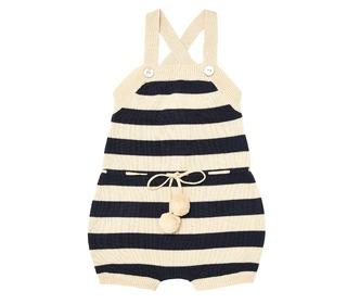 Baby Overall body ecru/navy - FUB