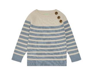 Baby Sweater - ecru/blue - FUB