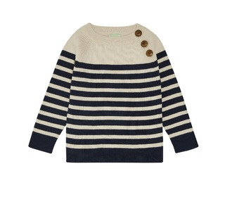 Baby Sweater - ecru/navy - FUB