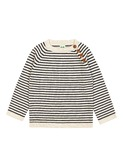 Sweater ecru/navy