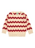 Baby chevron blouse - ecru/red/navy