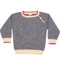 Baby texture blouse - ecru/navy