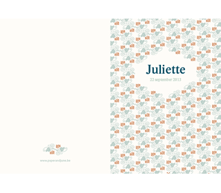 druif blauw - Paper and June