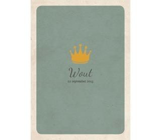 kroontje grijsblauw - Paper and June