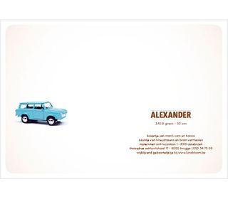 trabant blauw - Paper and June