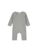 Baby suit with snaps grey melange
