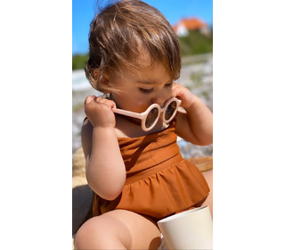 Sustainable kids sunglasses - shell - Grech & Co.