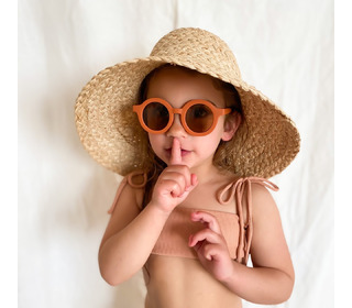 Sustainable kids sunglasses - rust - Grech & Co.