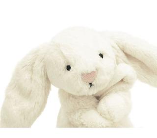 knuffeldoekje bashful crème konijn - Jellycat