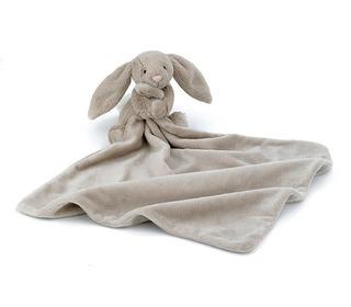 knuffeldoekje bashful beige konijn - Jellycat