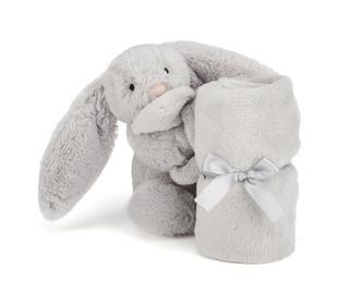 knuffeldoekje bashful silvergrey konijn - Jellycat