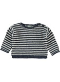 Nat striped sweater dark blue/off-white │Kidscase