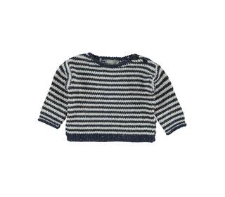 Nat striped sweater dark blue/off-white │Kidscase