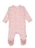 Patti organic footed NB suit pink flower